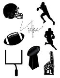 Football icons and elements Royalty Free Stock Photos