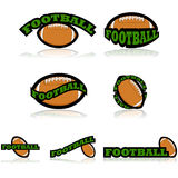 Football icons Royalty Free Stock Photography