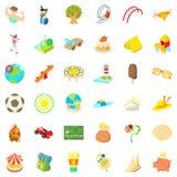 Football icons set, cartoon style. Football icons set. Cartoon style of 36 football vector icons for web isolated on white background Royalty Free Stock Images