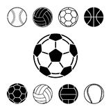 Football icons set great for any use. Vector EPS10. Royalty Free Stock Image
