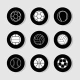 Football icons set great for any use. Vector EPS10. Royalty Free Stock Photos