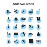 Football Icons Set. For web design and application interface, also useful for infographics. Vector illustration Vector Illustration