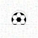 Football icons of soccer background Royalty Free Stock Photos