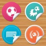 Football icons. Soccer ball sport. Stock Image