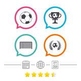 Football icons. Soccer ball sport. Royalty Free Stock Photo