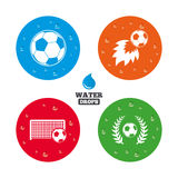 Football icons. Soccer ball sport Stock Photo