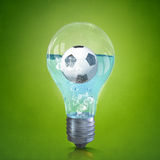 Football idea Royalty Free Stock Photos