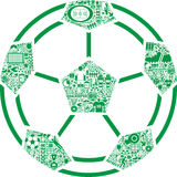 Football illustration Stock Photography