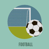 Football. Illustration of a soccer ball, flat icon Royalty Free Stock Photo