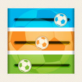 Football infographic sliders Royalty Free Stock Images