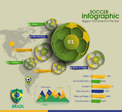 Football Infographic Vector Stock Image