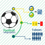 Football infographics elements set Royalty Free Stock Photography
