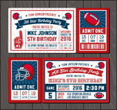 Football invite tickets 2 Royalty Free Stock Photos