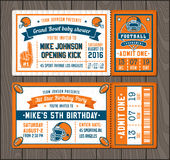 Football invite tickets Royalty Free Stock Photography