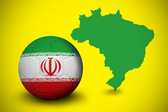 Football in iran colours Stock Image