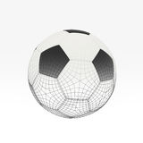 Football isolate on white Royalty Free Stock Images