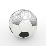 Football isolate on white Stock Images