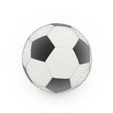 Football isolate on white Stock Photography
