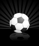 Football isolated on a black Stock Images