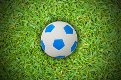 Football isolated on green grass Royalty Free Stock Images
