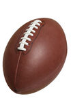 Football isolated on white with clipping path. An NFL style football isolated on white with clipping path royalty free stock photo