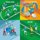 Football 2x2 Isometric Design Concept Royalty Free Stock Photography
