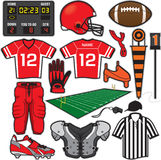 Football Items. Items/Equipment used in the sport of American Football Royalty Free Stock Photo