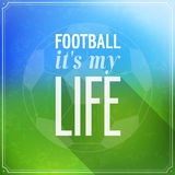 Football its my life. Stock Images