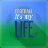 Football its my life. Stock Photo