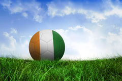Football in ivory coast colours Stock Photos