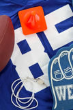 Football Jersey. Laying against a white background Royalty Free Stock Image
