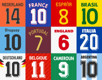 Football jersey numbers Stock Photo