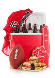 Football: Jersey And Other Football Items Ready For Game Time Stock Images