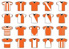 Football jerseys Royalty Free Stock Image