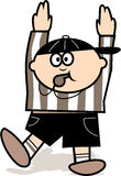 Football judge. Blowing a whistle Stock Images