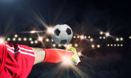 Football kick Royalty Free Stock Images