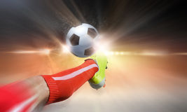 Football kick Royalty Free Stock Image