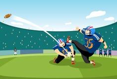 Football kick-off. Football player doing the kick-off Stock Photography