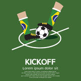 Football Kick Off. Vector Illustration Stock Photography