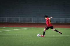 Football kick Royalty Free Stock Images
