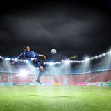 Football kick Stock Photo