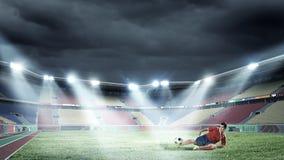 Football kick Royalty Free Stock Photography