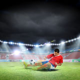 Football kick Royalty Free Stock Photography