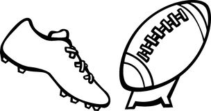 Football kick vector illustration Royalty Free Stock Photography