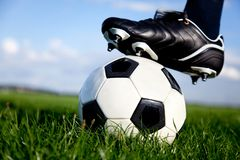 Football kickoff Stock Photography