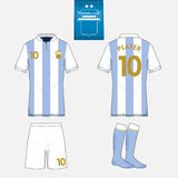 Football kit template for your sport club. Royalty Free Stock Photography