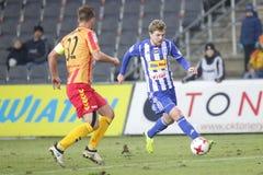 Football: Korona Kielce - Wisla Plock Royalty Free Stock Images
