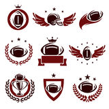 Football labels and icons set. Vector Stock Photography