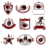 Football labels and icons set. Vector Royalty Free Stock Photography