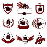 Football labels and icons set. Vector Royalty Free Stock Photo